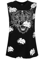 Marcelo Burlon County Of Milan Flower Puma Tank Top Black