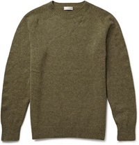 Margaret Howell Wool And Cashmere Blend Sweater Green