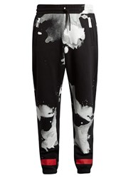 Off White Liquid Spot And Logo Print Track Pants Black Multi