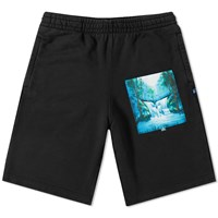 Off White Waterfall Sweat Short Black