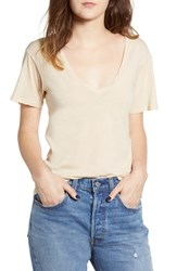 Project Social T The Softest V Neck Tee Spanish Sand