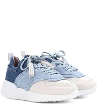 Tod's Suede Sneakers Blue