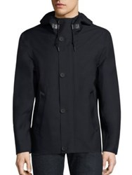 Mackage Hooded Button Jacket Navy