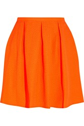 Opening Ceremony Ethan Neon Embossed Pique Mini Skirt Orange