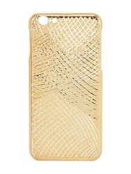 La Mela Luxury Handmade In Italy Lizard Gold Pleated Iphone 6 6S Case