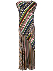 Aspesi Striped Long Dress Multicolour