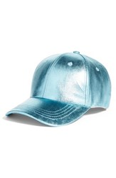 Collection Xiix Crackled Metallic Baseball Cap Blue