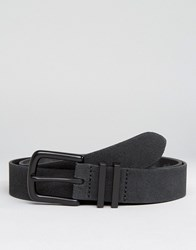Asos Smart Suede Belt With Coated Keepers Black