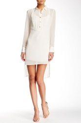 Bcbgeneration Hi Lo Dress White