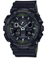 G Shock Men's Analog Digital Black Resin Strap Watch 51X55mm Ga100l 1A