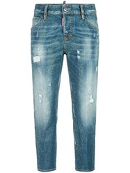 Dsquared2 Cool Girl Microstudded Jeans Blue