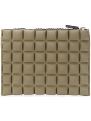 No Ka' Oi Mini Textured Clutch Bag Polyamide Polyurethane Spandex Elastane Green