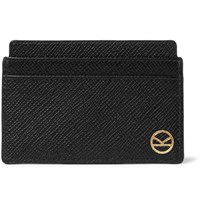 Kingsman Smythson Panama Cross Grain Leather Cardholder Black