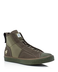 G Star G Star Raw Scuba High Top Sneakers Combat Military Green