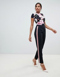 Ted Baker Madlyne Trouser With Floral Detailing Multi