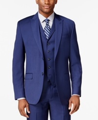 Sean John New Blue Solid Classic Fit Jacket