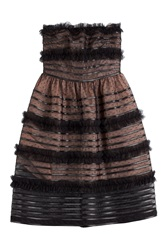 Red Valentino Bustier Dress With Tulle Black