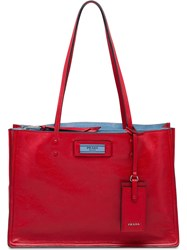 Prada Etiquette Tote Bag Red