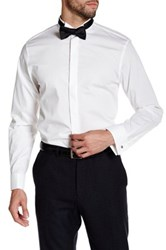 14Th And Union Solid Wing Collar Trim Fit Tuxedo Shirt White