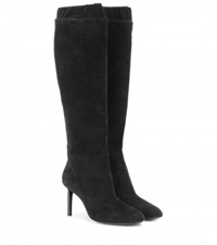 Tom Ford Suede Knee High Boots Black