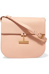 Tom Ford T Clasp Textured Leather Shoulder Bag Blush