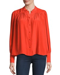 Frame Chloe Blouse Red