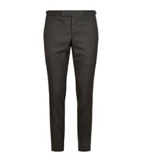 Thom Browne Skinny Wool Trousers Male Grey