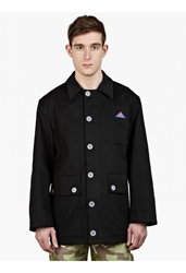 Gosha Rubchinskiy Men's Black Heavy Twill Patchwork Coat