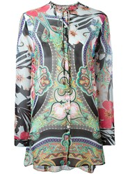Etro Collarless Paisley Blouse Black