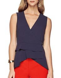 Bcbgmaxazria Eleni Sleeveless Peplum Top Dark Midnight