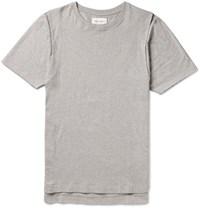 Public School Lane Melange Cotton Jersey T Shirt Gray