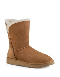 Ugg Classic Cuff Fur Suede Ankle Boots Chestnut