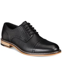 Bar Iii Men's Parker Cap Toe Brogues Created For Macy's Men's Shoes Black