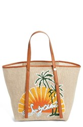 See By Chloe Andy Appliqued Tote None Sunset Natural