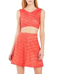 Bcbgmaxazria Ivanna Lace Two Piece Dress Hibiscus