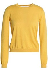 Red Valentino Cashmere And Silk Blend Sweater Mustard