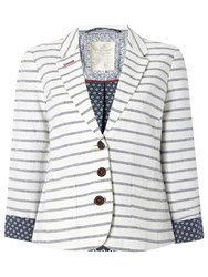 White Stuff Leminton Stripe Blazer Buttermilk