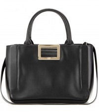 Roger Vivier Ines Small Leather Tote Black