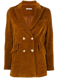 Circolo 1901 Double Breasted Jacket Brown