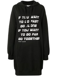 Each X Other Go Together Print Hoodie Dress Black