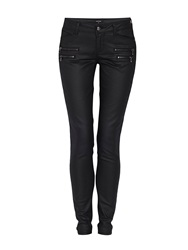 Morgan Slim Fit Jeans With Zipped Detailing Black