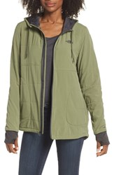 The North Face Mountain Zip Hooded Sweatshirt Four Leaf Clover