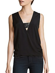 1.State V Neck Sleeveless Top Rich Black