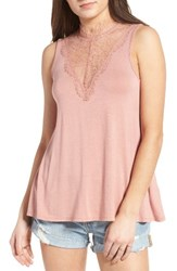 Women's Bp. Lace Inset Tank Coral Beach