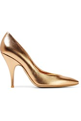 Moschino Metallic Leather Pumps