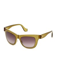 Balenciaga Bubbled Cat Eye Sunglasses Dove