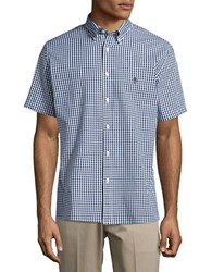 Brooks Brothers Short Sleeved Button Down Sportshirt Blue