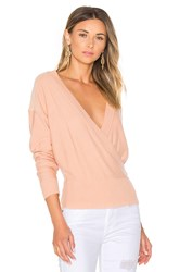 By The Way. Danna Surplice Sweater Pink