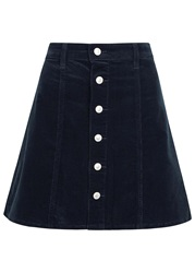 Alexa Chung For Ag Kety Navy Corduroy Mini Skirt