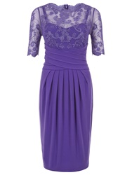 Kaliko Lace And Jersey Dress Dark Purple